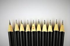 Ein Konzept Bild einiger Bleistifte - mit Kopienraum Lizenzfreies Stockbild