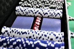 Ein Konzept Bild einiger Pokerchips in einem Kasino Lizenzfreies Stockbild
