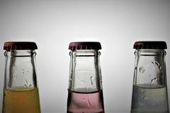 Ein Konzeptbild einer Flasche mit Kopienraum Stockfotografie