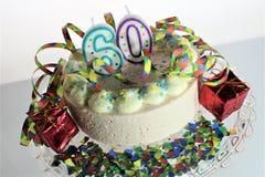 Ein Konzeptbild eines Geburtstagskuchens - Geburtstag 60 Lizenzfreie Stockbilder