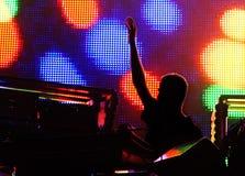 Ein Konzert der elektronischen Musik Lizenzfreies Stockfoto