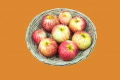 Ein Korb von Äpfeln Lizenzfreies Stockfoto