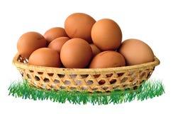 Ein Korb von Eiern Stockfotografie