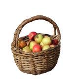 Ein Korb von frischen Äpfeln Stockbild