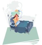 Patient auf Bett vektor abbildung
