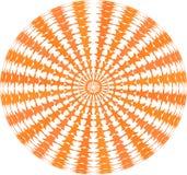 Ein Kreis von hand-haltenen hölzernen Zahlen gegen einen weißen Hintergrund als Beschaffenheit stockbild