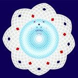Ein kreisförmiges dekoratives Muster Stockfoto