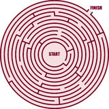 Ein Kreislabyrinth Lizenzfreie Stockfotografie