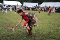 Ein Kriegsgefangenwow Tänzer des amerikanischen Ureinwohners stockbild