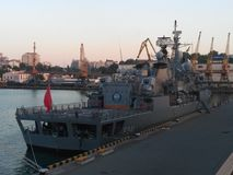Ein Kriegsschiff 1 Stockfoto