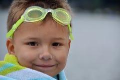 Ein Lächeln nach einem Swim Stockbild