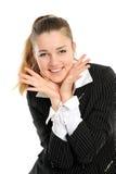 Ein lächelnder attraktiver Brunette Stockfotografie