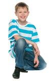 Porträt eines netten blonden Jungen Lizenzfreie Stockfotografie