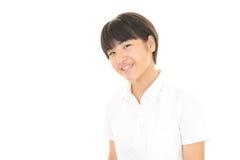 Ein lächelndes jugendlich Mädchen Stockfoto