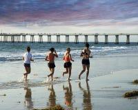 Ein Lack-Läufer zum Pier Lizenzfreies Stockbild