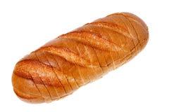 Ein Laib des Brotes geschnitten Lizenzfreies Stockbild