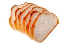 Ein Laib des Brotes schnitt (trennte) Stockfoto
