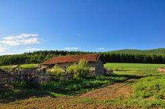 Ein Landschafthaus Stockfotografie