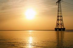 Ein langer Sonnenuntergang lizenzfreie stockfotos