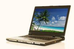 Ein Laptop Lizenzfreie Stockfotos