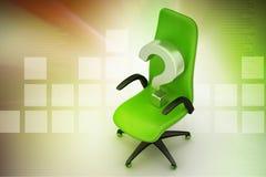 Ein leerer Stuhl mit Fragezeichen Lizenzfreie Stockfotos