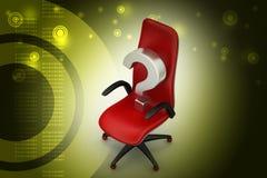 Ein leerer Stuhl mit Fragezeichen Lizenzfreie Stockfotografie