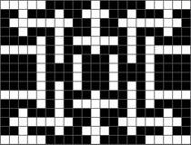 Ein leeres Kreuzworträtsel Lizenzfreie Stockfotos