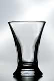 Ein leeres Schußglas Stockfotografie
