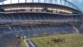 Ein leeres Sport-Arena-Stadion in Seattle Stockfotografie