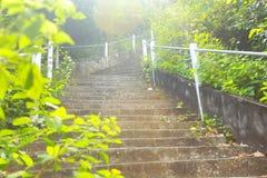 Ein leeres Treppenhaus zum Himmel Lizenzfreie Stockfotografie