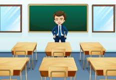 Ein Lehrer innerhalb des Raumes Stockbild