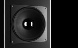 Ein leistungsfähiges Audiosystem. Lizenzfreie Stockfotografie