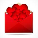 Ein Liebesbrief mit Innere. lizenzfreie abbildung