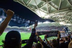 Ein-Liga 2015 großartiges abschließendes Melbourne Victory Vs Sydney FC Lizenzfreie Stockbilder