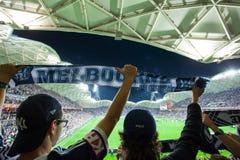 Ein-Liga 2015 großartiges abschließendes Melbourne Victory Vs Sydney FC Lizenzfreies Stockbild