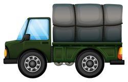 Ein LKW, der einen Schaumgummi transportiert Lizenzfreies Stockfoto