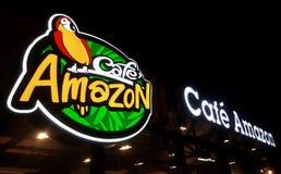 Ein Logo von Café Amazonas stockfotografie