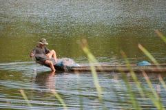 Ein lokaler Fischer in Thailand Lizenzfreie Stockfotos