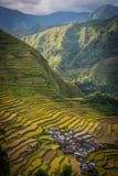 Ein lokalisiertes Dorf auf den Batad-Reisterrassen lizenzfreie stockbilder