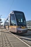 Tram Dublins Luas Stockbild