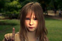 Ein Mädchen stockbilder