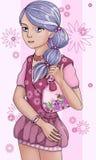 Ein Mädchen Lizenzfreie Stockbilder