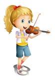 Ein Mädchen, das mit ihrer Violine spielt vektor abbildung