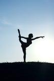 Ein Mädchen ist ein Gymnast Lizenzfreie Stockbilder