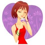 Ein Mädchen mit Blume Lizenzfreie Stockbilder