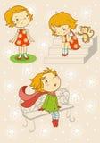 Ein Mädchen steht vektor abbildung