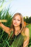 Ein Mädchen und eine Natur Stockbild