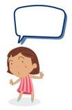 Ein Mädchen und rufen aus stock abbildung
