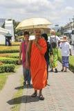 Ein Mönch in Bangkok, Thailand Stockfoto