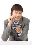 Ein müder Geschäftsmann im Ende Lizenzfreie Stockfotos